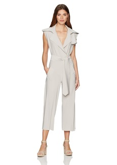 Norma Kamali Women's Double Breasted Trench Sleeveless Cropped Jumpsuit  XL