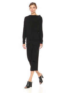 Norma Kamali Women's Four Sleeve All in One Dress  XL