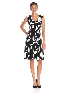 Norma Kamali Women's Grace Dress Reversible Leopard