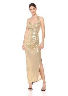 Norma Kamali Women's Halter Sweetheart Side Drape Gown  XS