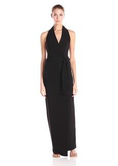 Norma Kamali Women's Halter Wrap Dress Long