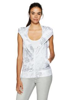 Norma Kamali Women's Halter Zip Hood Hoodie  XL