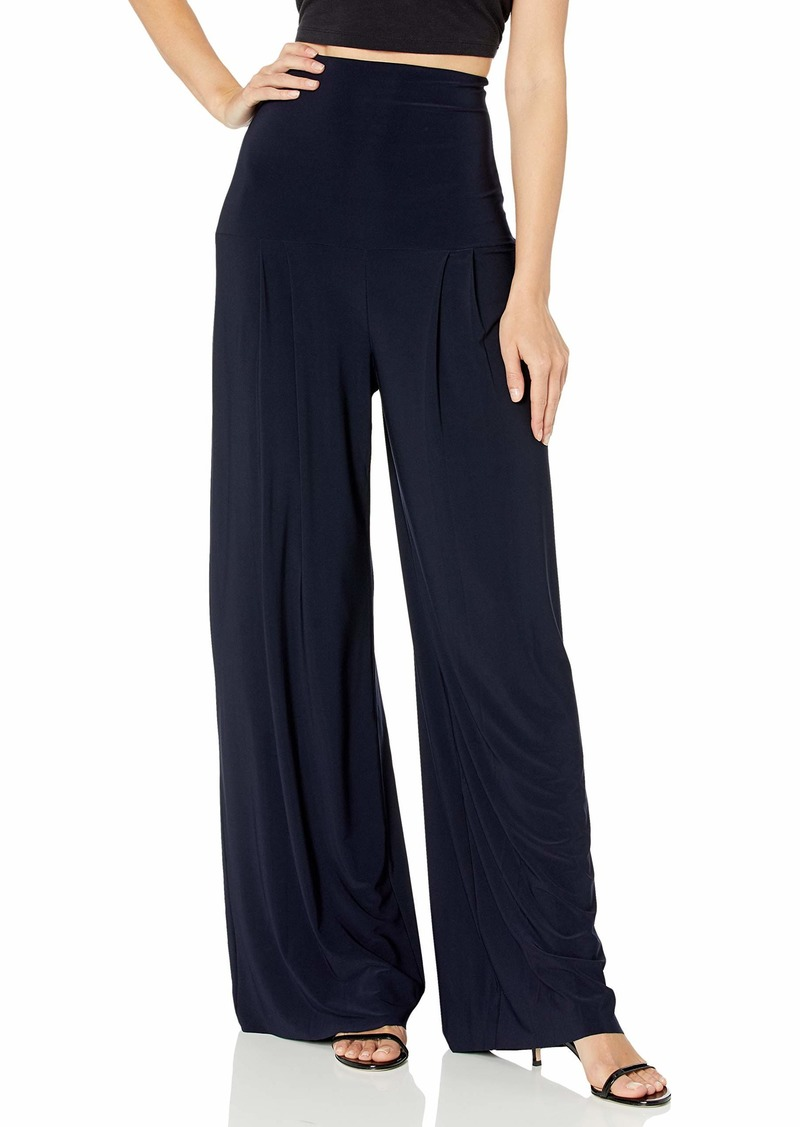 Norma Kamali Women's HIGH Waist Pleat Pant  L