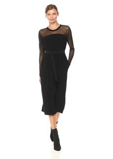 Norma Kamali Women's Long Box Dress With Mid Belt  S
