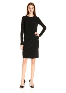 Norma Kamali Women's Long Sleeve Babydoll Dress  L