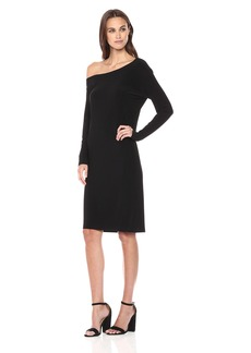 Norma Kamali Women's Long Sleeve Drop Shoulder Dress  XS