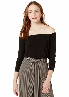 Norma Kamali Women's Long Sleeve Off Shoulder TOP  XL