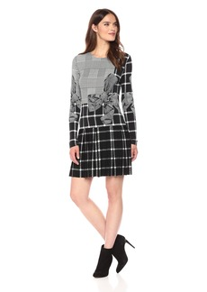 Norma Kamali Women's Long Sleeve Pleated Mini Dress  S