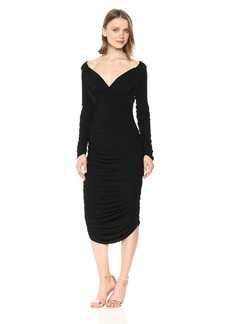 Norma Kamali Women's Long Sleeve Tara Dress Bl  M