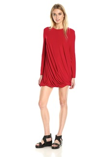 Norma Kamali Women's Long Sleeve Twist Mini Dress  XS
