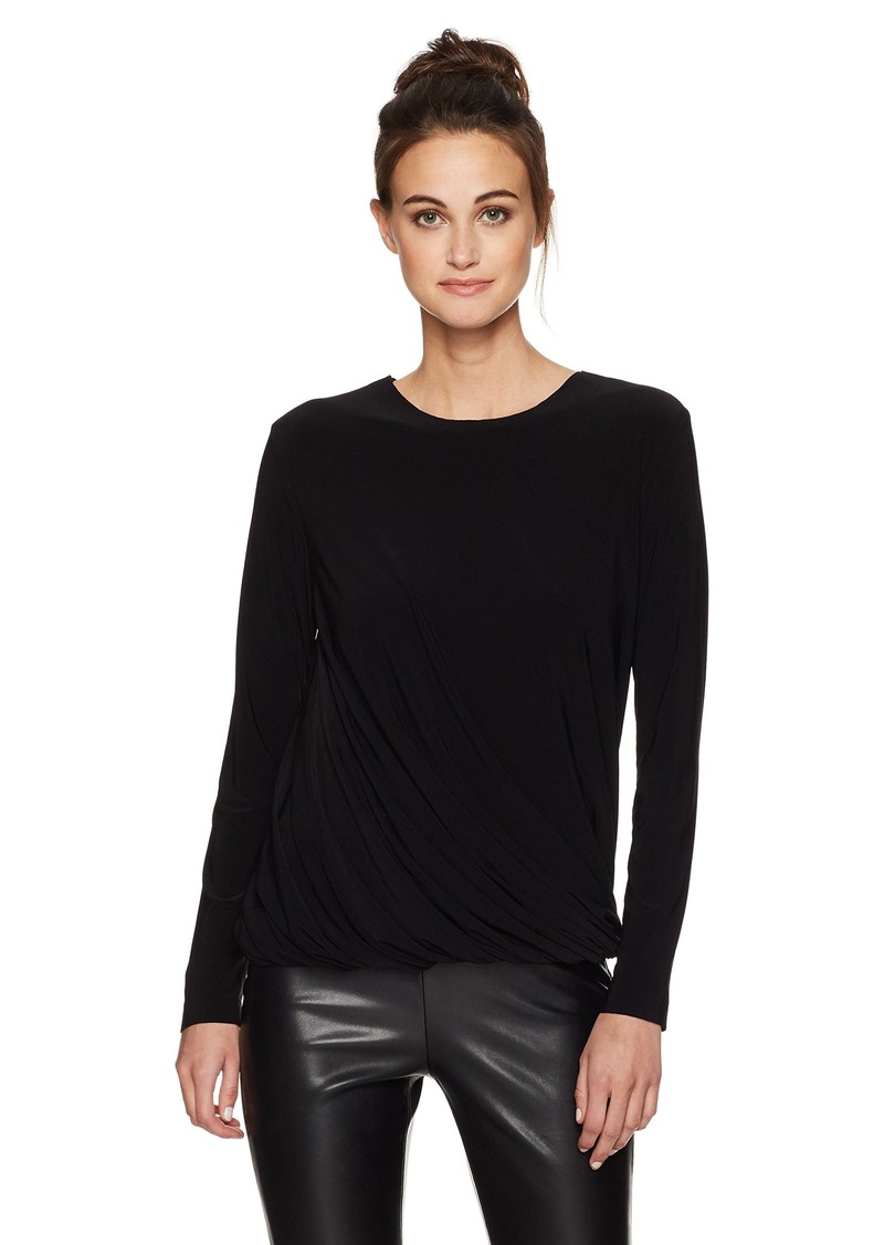 Norma Kamali Women's Long Sleeve Twist Top  S