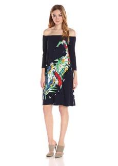 Norma Kamali Women's Off Shoulder Dress to Knee  S