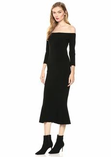 Norma Kamali Women's Off Shoulder Fishtail Dress to Knee  S