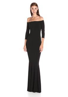 Norma Kamali Women's Off Shoulder Fishtail Gown
