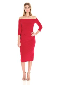 Norma Kamali Women's Off Shoulder Shirred Waist Dress in  S