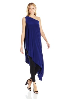 Norma Kamali Women's One Shoulder Diagonal Tunic