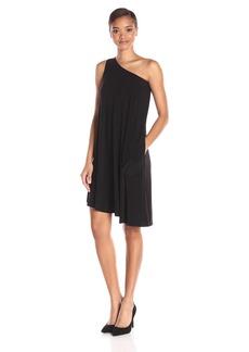 Norma Kamali Women's One Shoulder Swing Dress