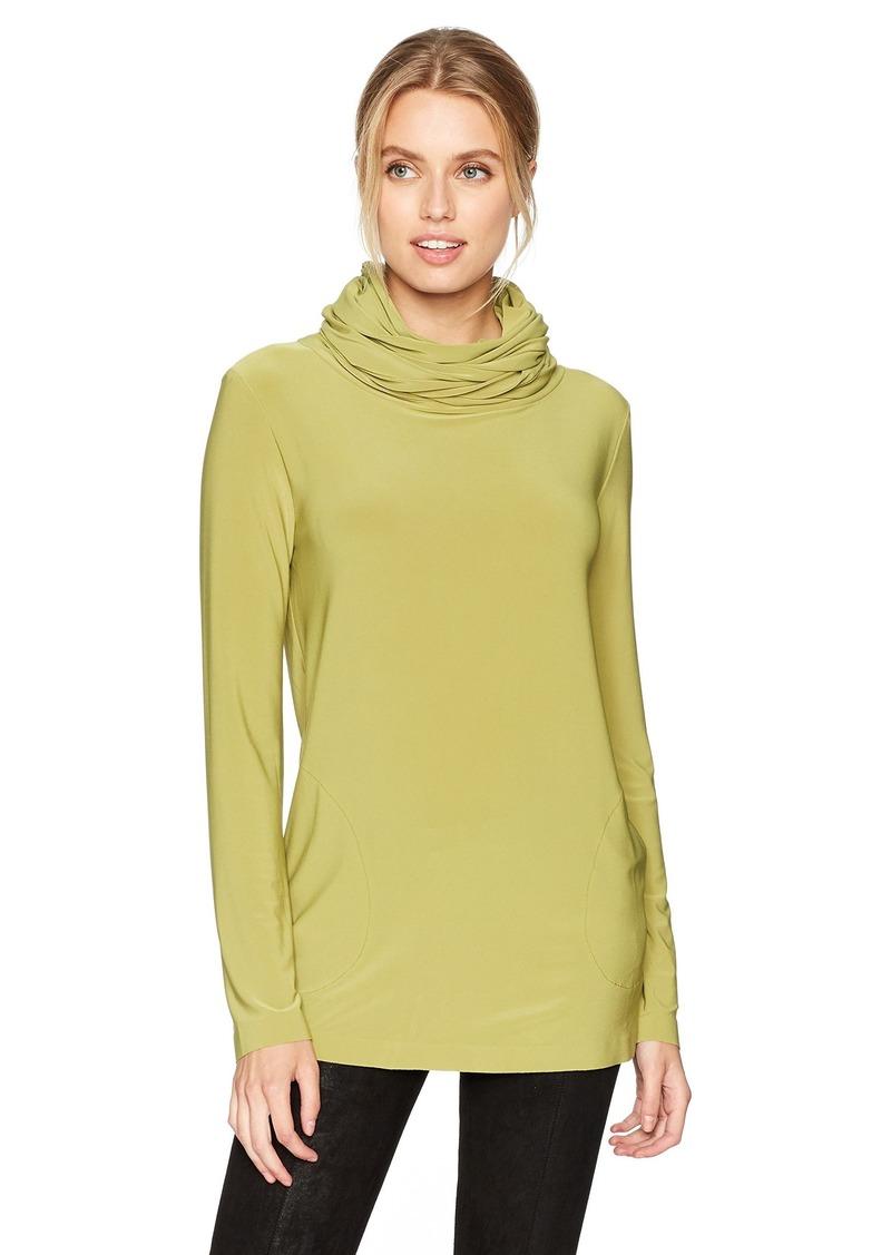 Norma Kamali Women's Oversized Long Sleeve Turtleneck Top  M