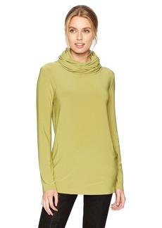 Norma Kamali Women's Oversized Long Sleeve Turtleneck Top  XS