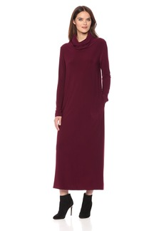 Norma Kamali Women's Oversized Turtleneck Midcalf Dress  L