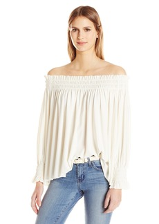 Norma Kamali Women's Peasant Top  S