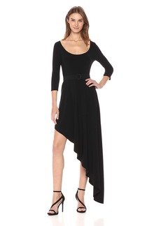 Norma Kamali Women's Reversible Scoop Neck Diagonal Flared Dress  S