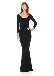 Norma Kamali Women's Reversible Scoop Neck Fishtail Gown  S