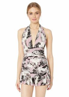 Norma Kamali Women's Ruffle Halter Mio Mini Dress  M
