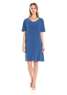 Norma Kamali Women's Short Sleeve Boxy Dress to Knee  L