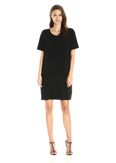 Norma Kamali Women's Short Sleeve Boxy Dress to Knee  M