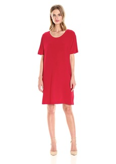 Norma Kamali Women's Short Sleeve Boxy Dress to Knee  S