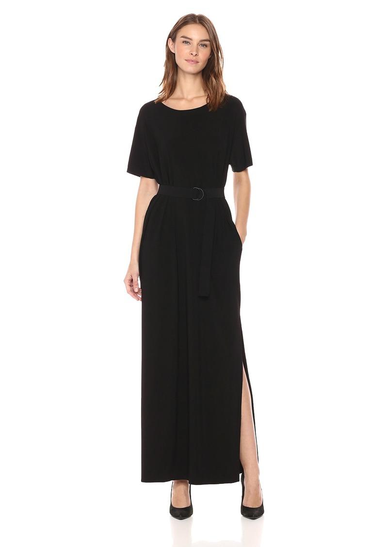 Norma Kamali Women's Short Sleeve Boxy Tee Dress  XXS