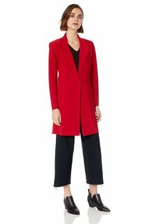 Norma Kamali Women's Single Breasted Coat to Knee red L