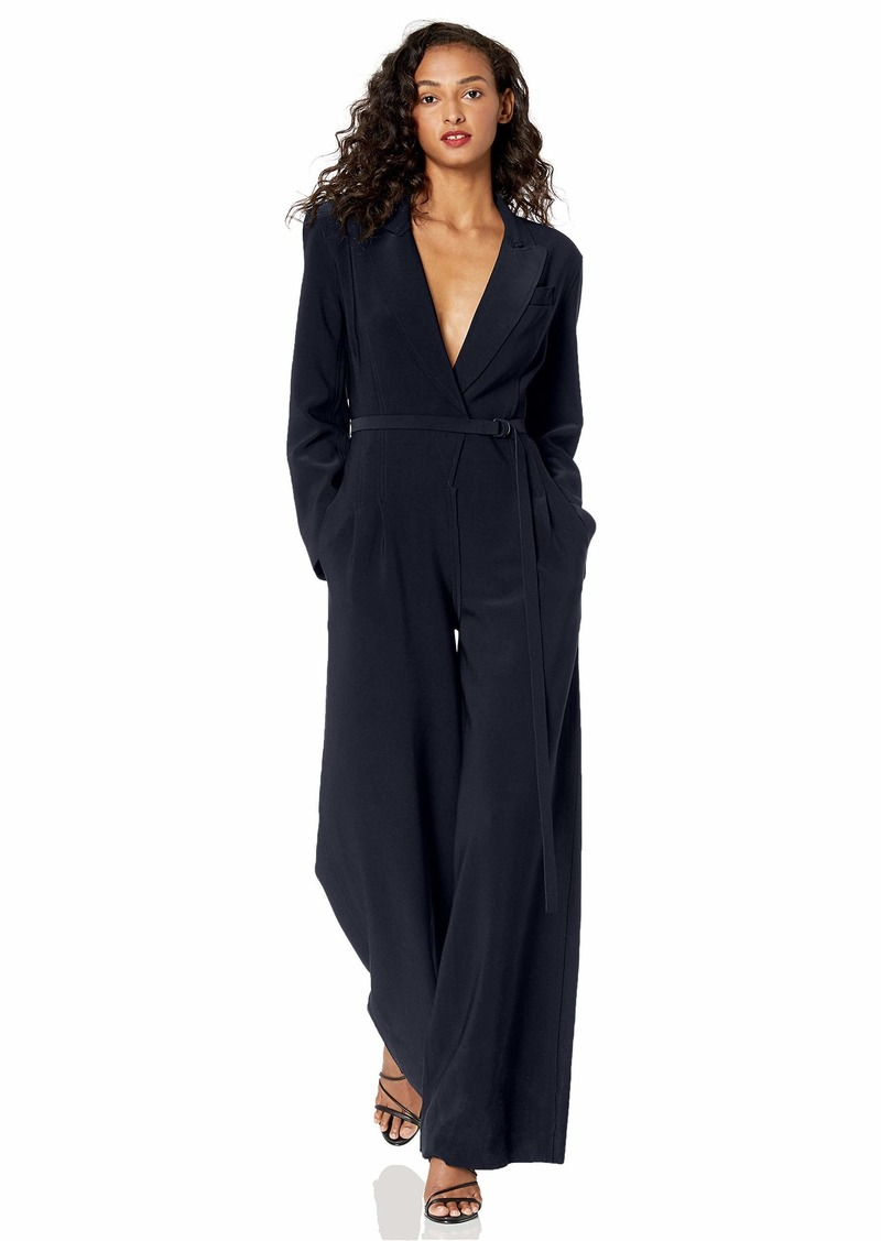 Norma Kamali Women's Single Breasted Straight Leg Jumpsuit  S
