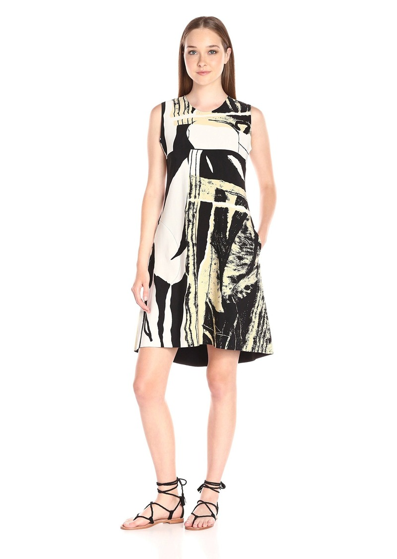 Norma Kamali Women's Sleeveless Bonded Swing Dress