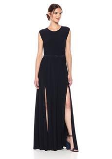 Norma Kamali Women's Sleeveless Elephant Dress With Skinny Belt  S
