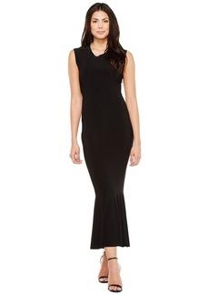 Norma Kamali Women's Sleeveless Midcalf Fishtail Dress  XL