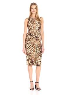 Norma Kamali Women's Sleeveless Shirred Waist Dress  L