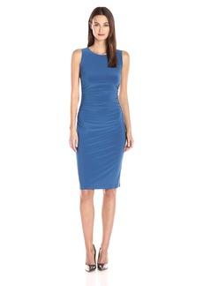 Norma Kamali Women's Sleeveless Shirred Waist Dress  M