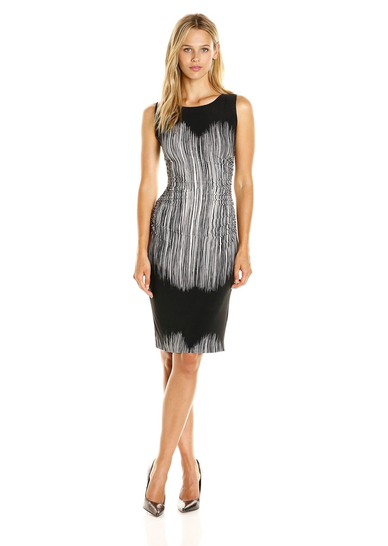 dd80d817af96f Norma Kamali Women's Sleeveless Waist Dress with Shirred on The Side S