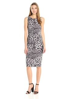 Norma Kamali Women's Sleeveless Shirred Waist Dress  XL