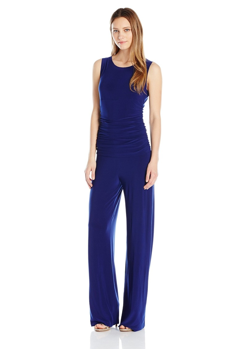 Norma Kamali Women's Sleeveless Shirred Waist Jumpsuit