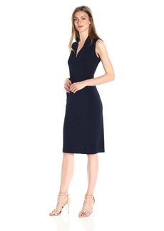 Norma Kamali Women's Sleeveless Side Drape Dress  M