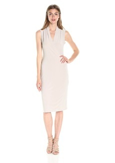 Norma Kamali Women's Sleeveless Side Drape Dress  XS