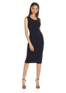 Norma Kamali Women's Sleeveless U Neck Shirred Waist Dress  M
