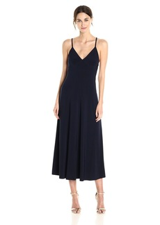 Norma Kamali Women's Slip Empire Flaired Dress  XL