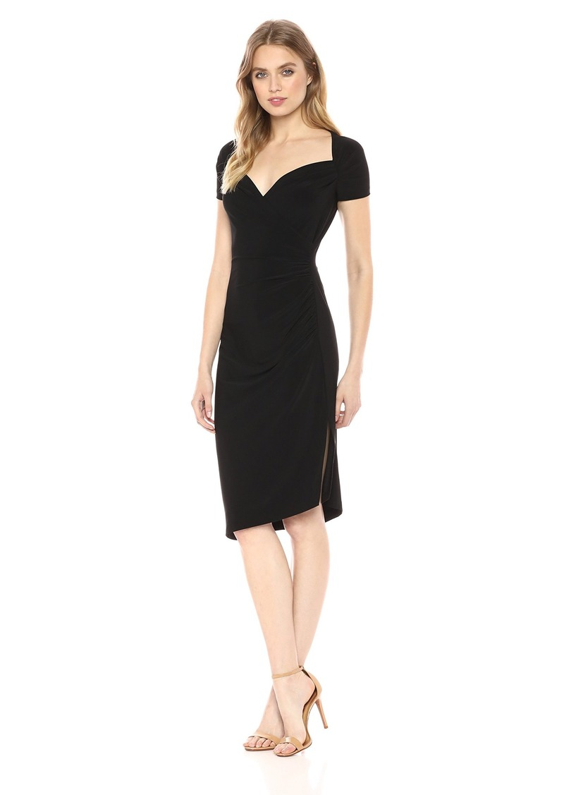 Norma Kamali Women's Sweetheart Side Drape Dress  L