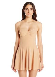 Norma Kamali Women's Underwire Swim Dress One Piece Swimsuit  L