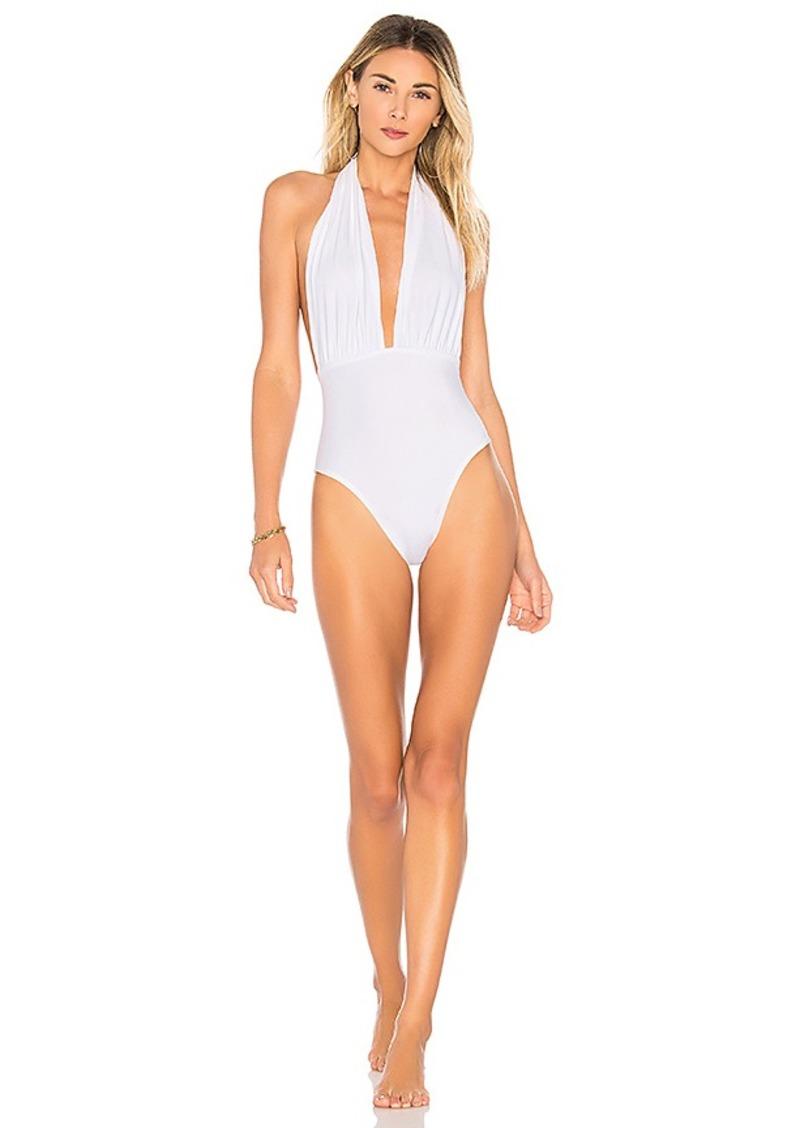 eeb6fc2ee7 Norma Kamali Norma Kamali x REVOLVE Halter Low Back One Piece | Swimwear