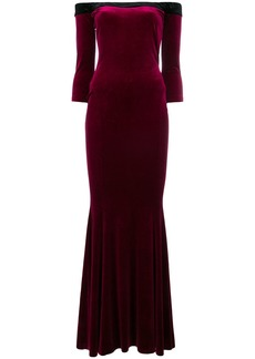 Norma Kamali off-shoulder fishtail gown